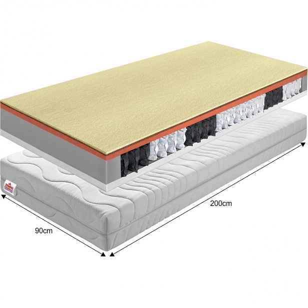 Pružinová matrace PALMEA NEW Tempo Kondela 90x200 cm