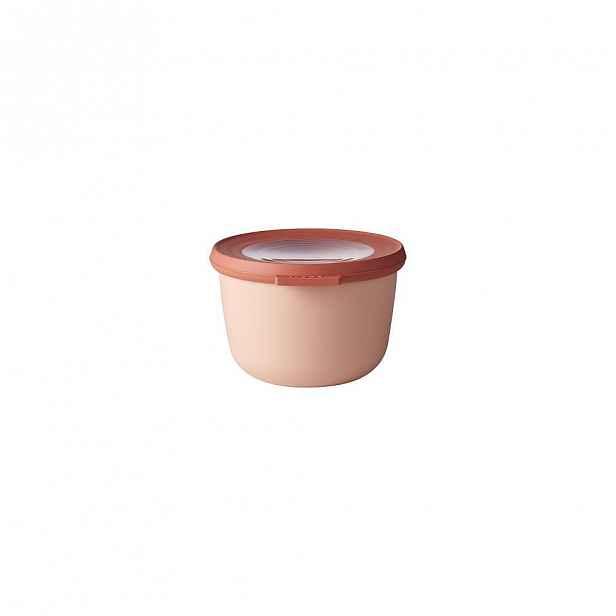 Růžová miska s víčkem Rosti Mepal Nordic, 500 ml