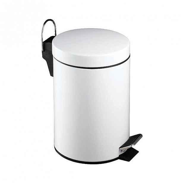 Bílý pedálový odpadkový koš Premier Housewares,3l