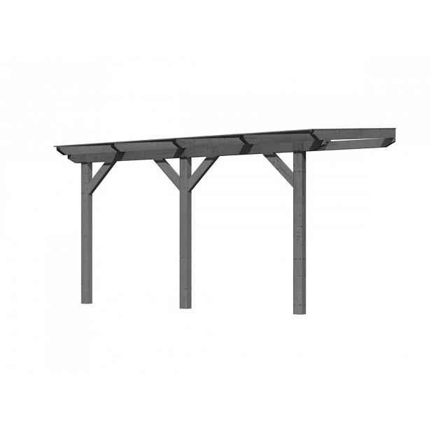 Dřevěná pergola CLASSIC 1B 402x250 cm Šedá