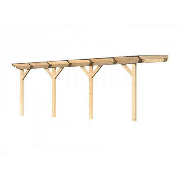 Dřevěná pergola CLASSIC 1C 604x250 cm Přírodní