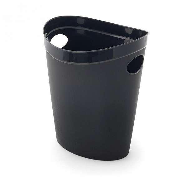 Černý odpadkový koš na papír Addis Flexi, 27 x 26 x 34 cm