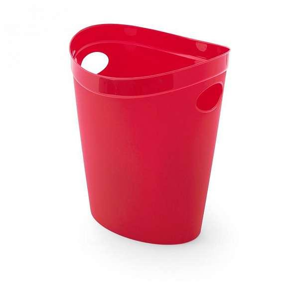 Červený odpadkový koš na papír Addis Flexi, 10 l