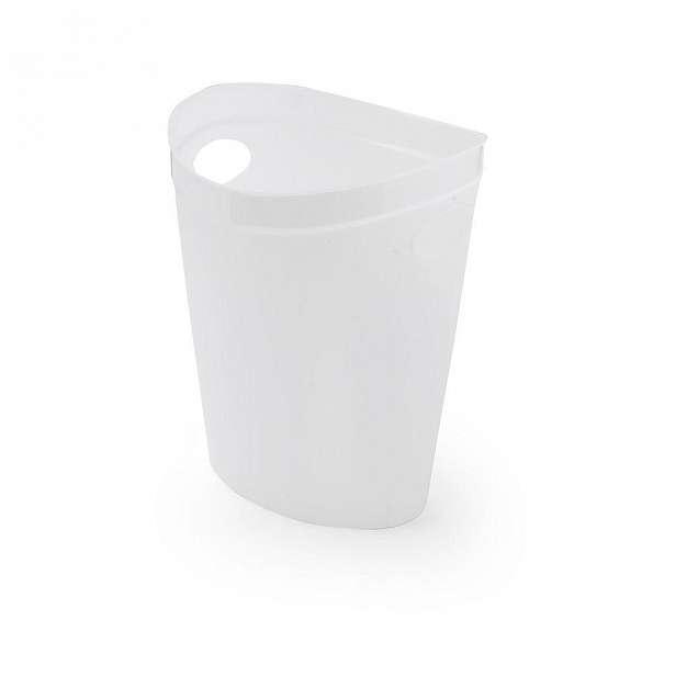 Bílý odpadkový koš na papír Addis Flexi - 10 l