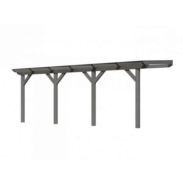 Dřevěná pergola CLASSIC 3C 604x350 cm Šedá