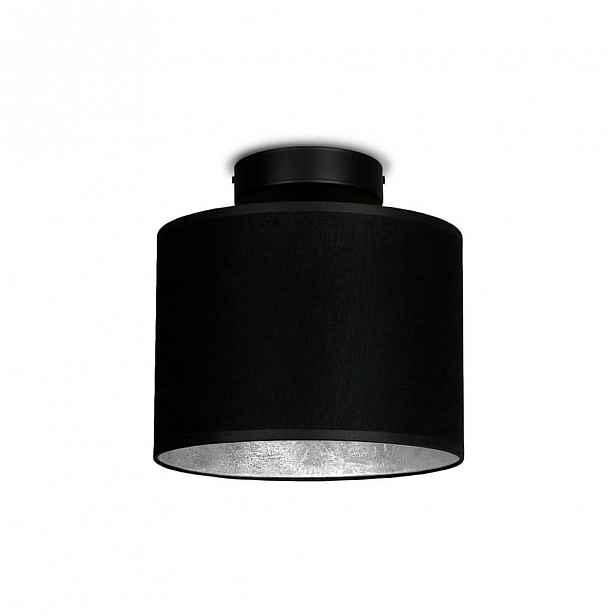 Černé stropní svítidlo s detailem ve stříbrné barvě Sotto Luce Mika Elementary XS CP, ⌀20cm