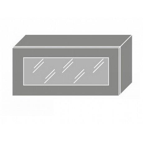 TITANIUM, skříňka horní W4bs 80 WKF, korpus: lava, barva: fino bílé