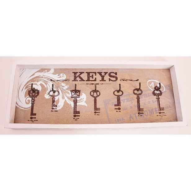 Nástěnný panel na klíče se 7 háčky