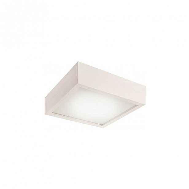 Bílé čtvercové stropní svídidlo Lamkur Plafond, 27,5x27,5 cm