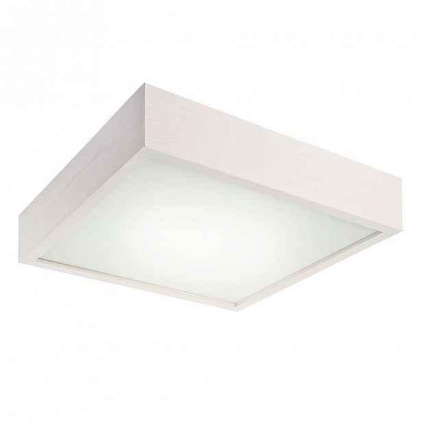 Bílé čtvercové stropní svídidlo Lamkur Plafond, 37,5x37,5 cm