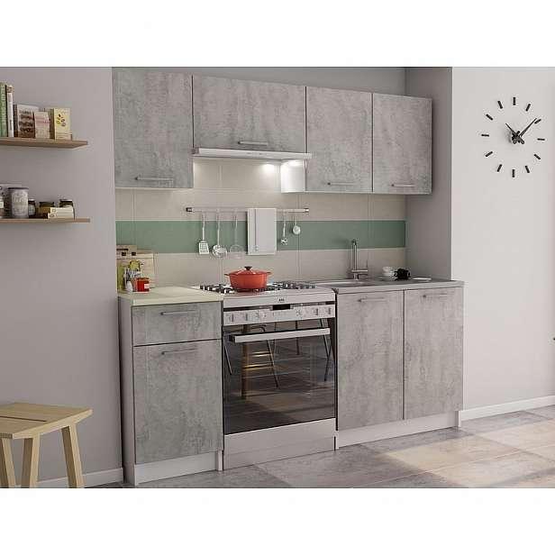 Kuchyňský blok Irma, bílá/šedý beton