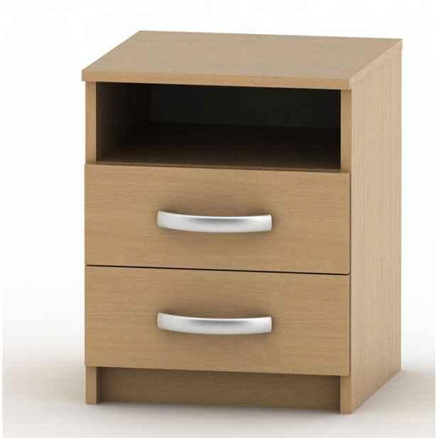 Noční stolek s 2 šuplíky, buk, BETTY 2 11020182 Tempo Kondela