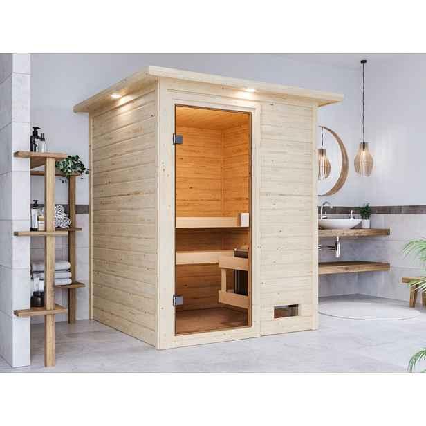 Interiérová finská sauna 145 x 145 cm Dekorhome