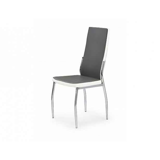 Jídelní židle K210, šedo-bílá