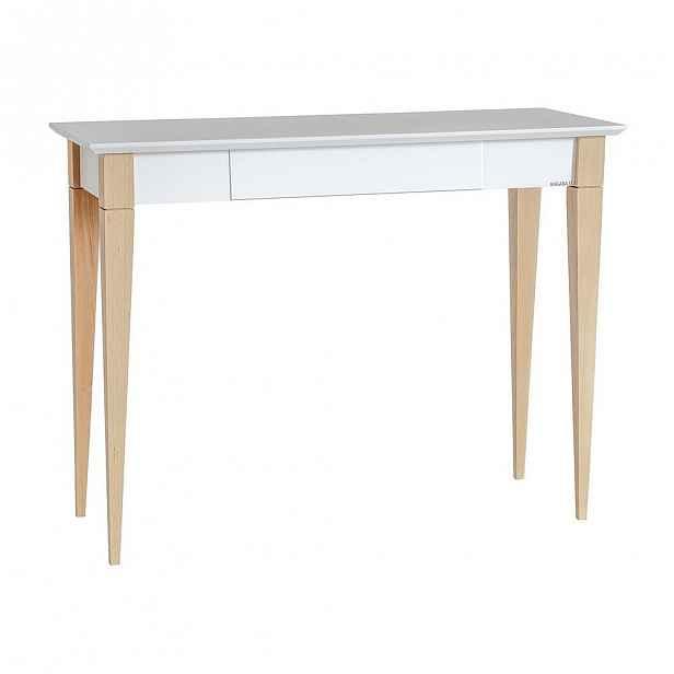 Bílý pracovní stůl Ragaba Mimo, šířka 105 cm