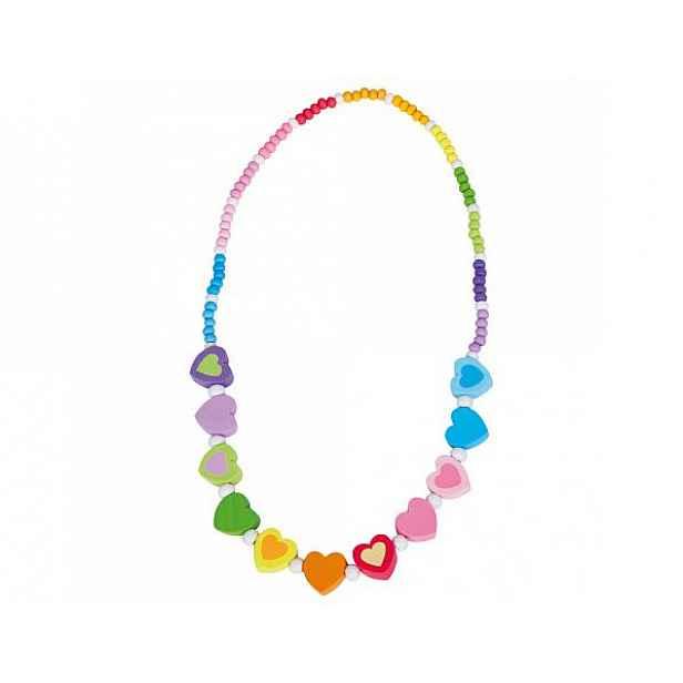 Dětský duhový náhrdelník, srdíčka