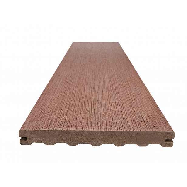Prkno terasové dřevoplastové WOODPLASTIC RUSTIC MAX palisander