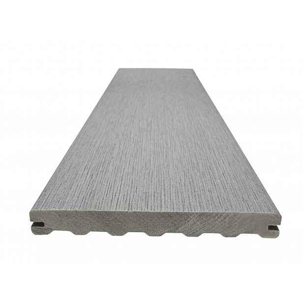 Prkno terasové dřevoplastové WOODPLASTIC RUSTIC MAX inox