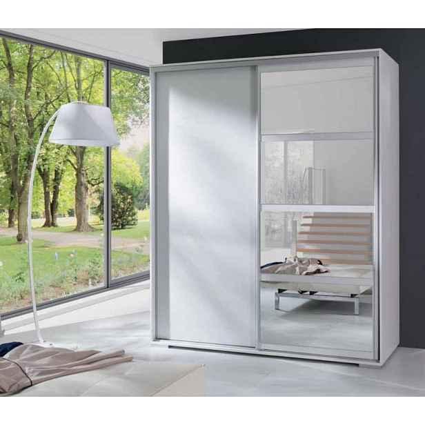 Moderní šatní skřín Leona, bílá HELCEL