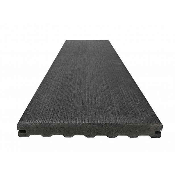 Prkno terasové dřevoplastové WOODPLASTIC RUSTIC MAX eben