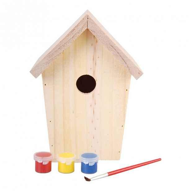 Dřevěná ptačí budka s barvami Esschert Design