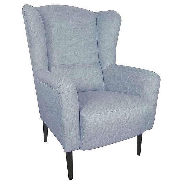 Křeslo ušák Canto, modrá tkanina