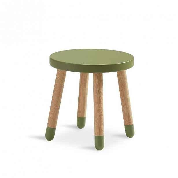Zelená dětská stolička Flexa Play, ø 30 cm