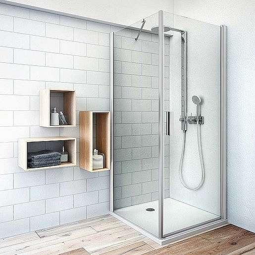 Boční zástěna ke sprchovým dveřím 75x200,8 cm Roth Tower Line chrom lesklý 725-7500000-00-02