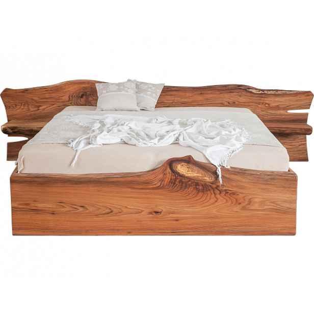 Designová masivní postel ELBA s úložným prostorem 180x200 cm, Laťový rošt Masiv BVP 16L