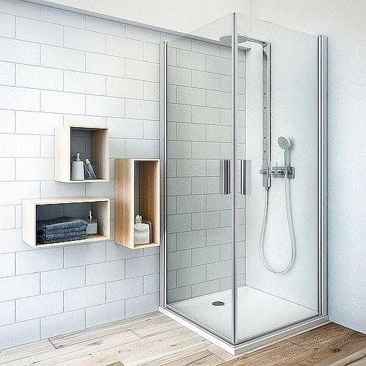 Sprchové dveře 100x201,2 cm Roth Tower Line chrom matný 727-1000000-01-02