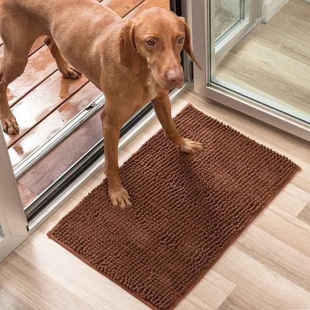 Hnědá psí rohožka InnovaGoods Pet Doormat, 85x65cm
