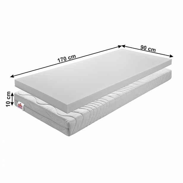 Dětská pěnová matrace BE ELISSE Tempo Kondela 90 x 170 cm