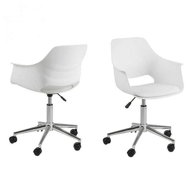 Bílá židle Actona Ramona - 57 x 95 x 58 cm