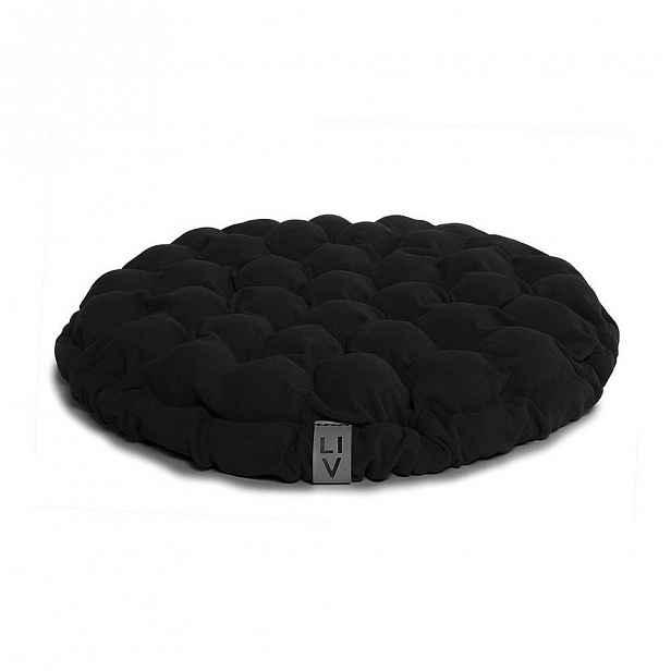 Černý sedací polštářek s masážními míčky