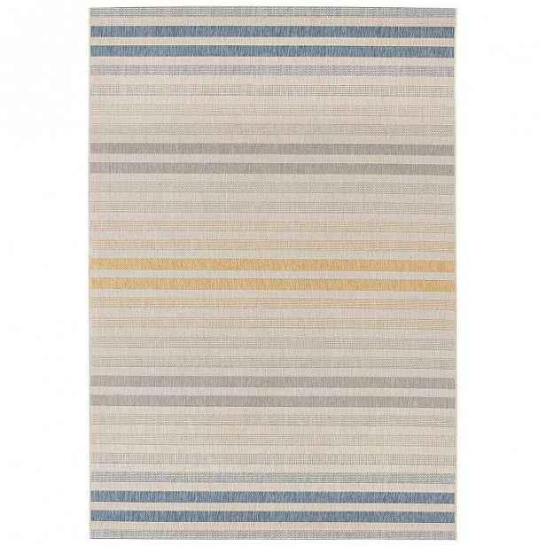 Modro-oranžový venkovní koberec Bougari Paros, 80 x 150 cm