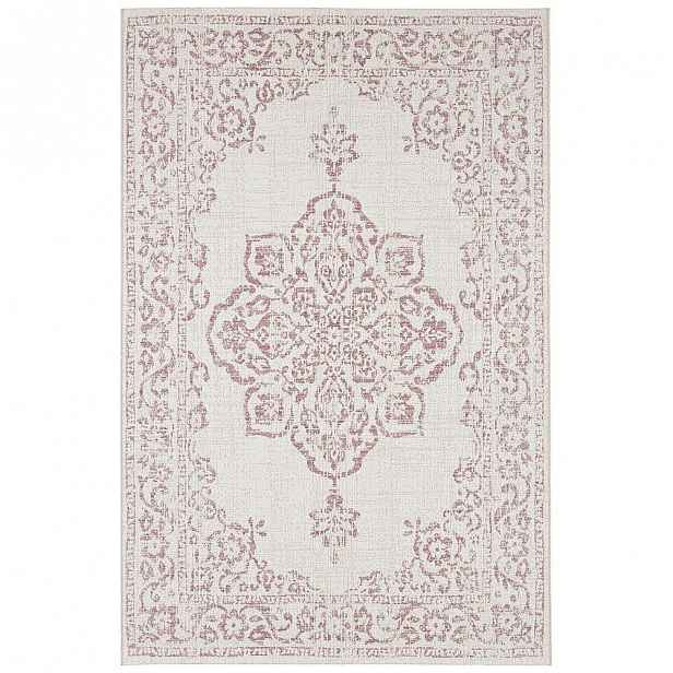 Červeno-krémový venkovní koberec Bougari Tilos, 160 x 230 cm