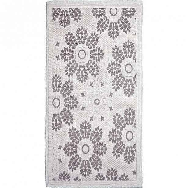 Šedobéžový bavlněný koberec Vitaus Papatya, 60x90cm