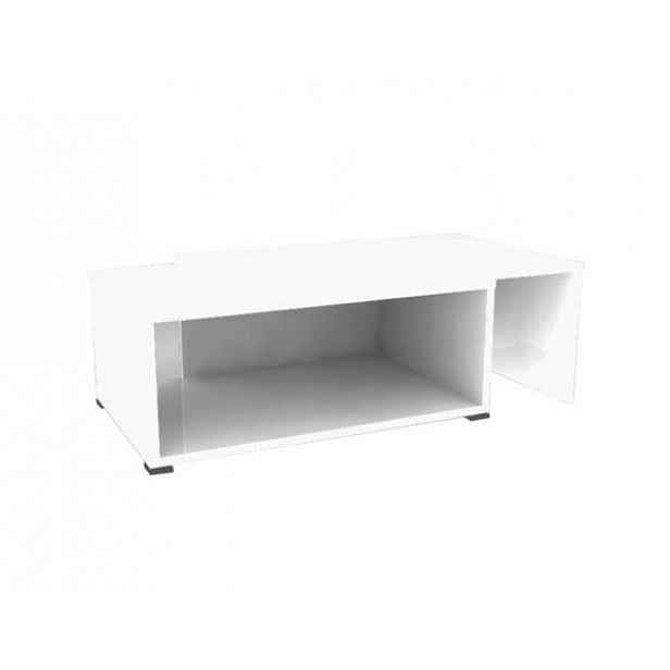 Konferenční rozkládací stolek DRON, bílá/bílá