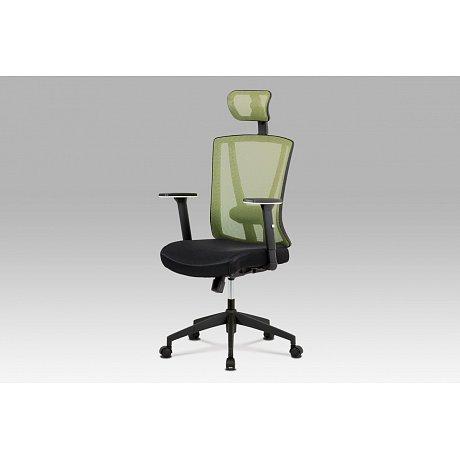 Kancelářská židle, černá/zelená - 64 x 63 x 122-130 cm