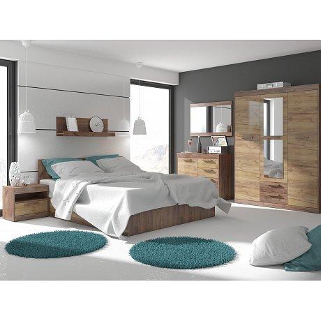 MAXIMUS ložnice 12, craft tobaco/craft zlatý