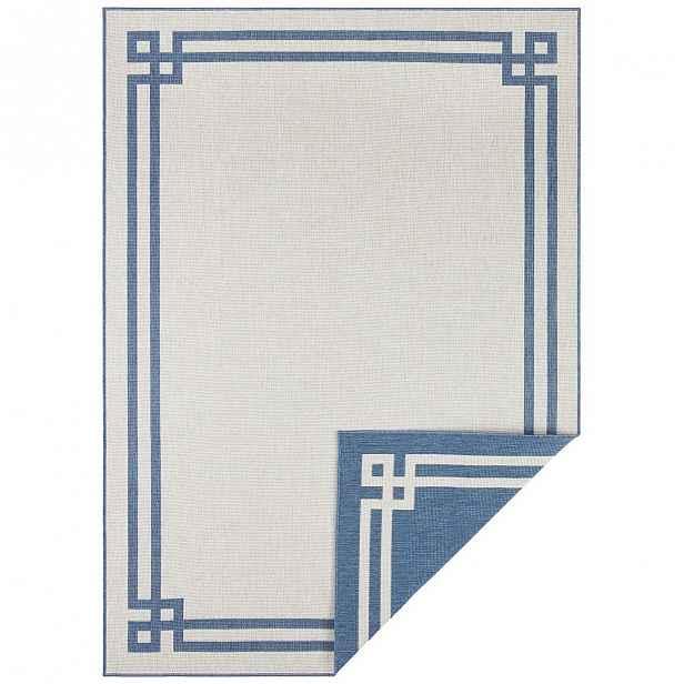Modro-krémový venkovní koberec Bougari Manito, 120 x 170 cm