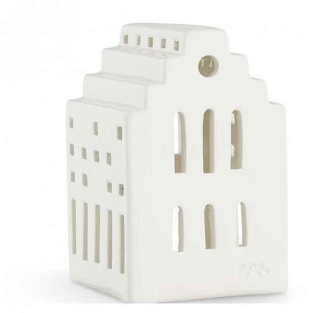 Bílá keramická lucerna Kähler Design Long Church, výška10cm