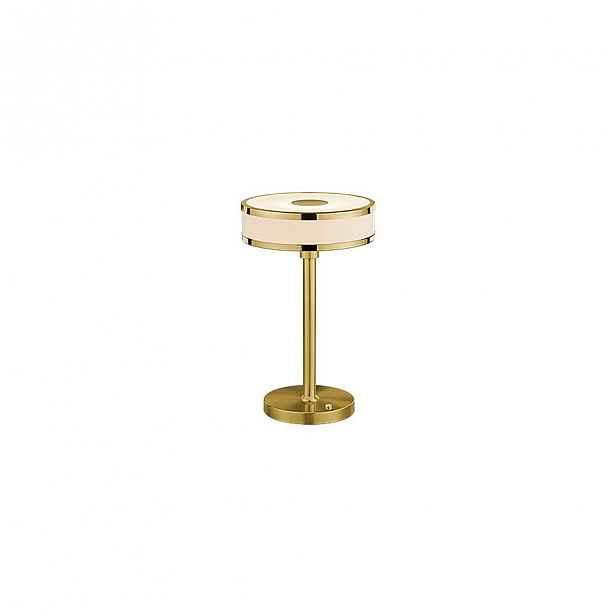 Stolní LED lampa ve zlaté barvě Trio Agento, výška 32 cm