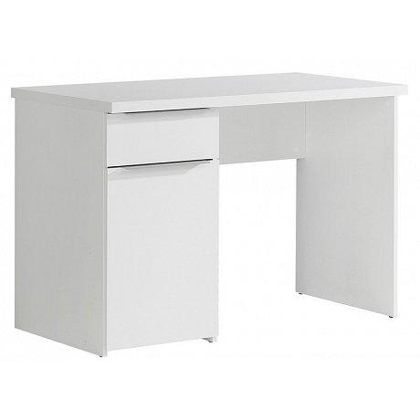 Psací stůl se zásuvkou Opus, bílý