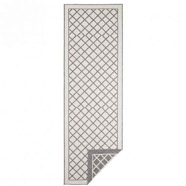 Šedo-krémový venkovní koberec Bougari Sydney, 350 x 80 cm