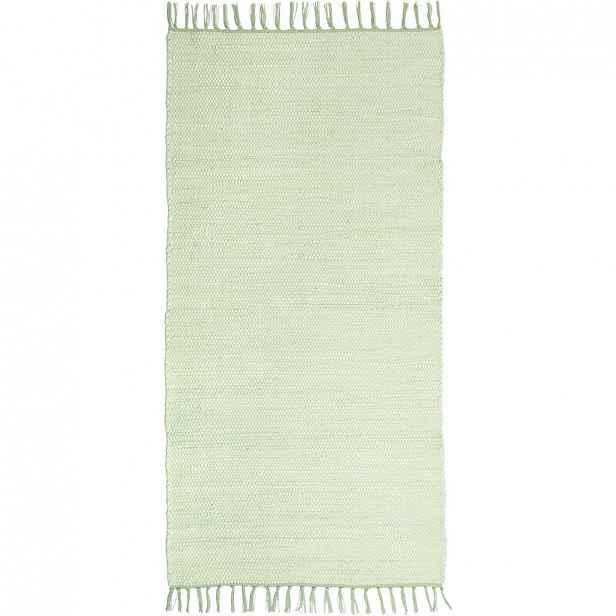 Ručně tkaný HADROVÝ KOBEREC, 80/150 cm, mátově zelená Boxxx