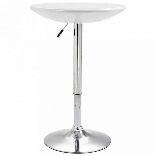 Barový stůl Ø 60 cm Dekorhome Bílá
