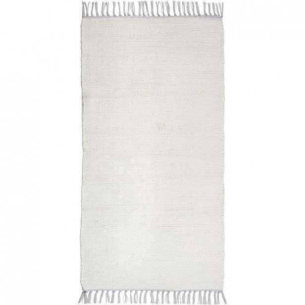 Ručně tkaný HADROVÝ KOBEREC, 80/150 cm, bílá Boxxx