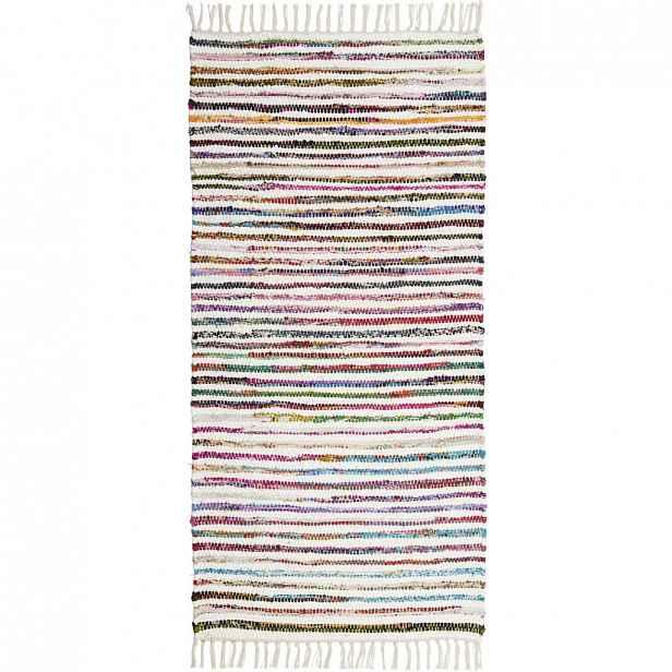 Ručně tkaný HADROVÝ KOBEREC, 80/150 cm, vícebarevná