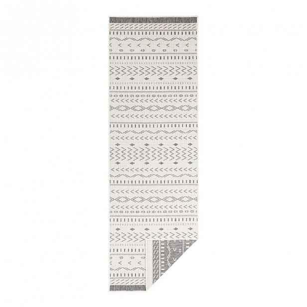 Šedo-krémový venkovní koberec Bougari Kuba, 350 x 80 cm